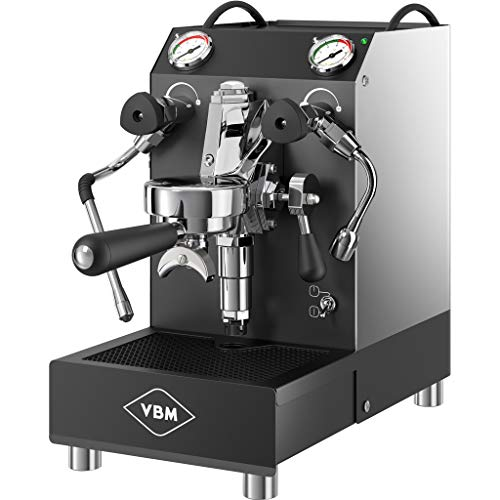 Espresso Tank Commercial Machine (VBM Domobar Junior Commercial Espresso Machine – V3, manual, HX, tank, vibratory pump (black/stainless steel))