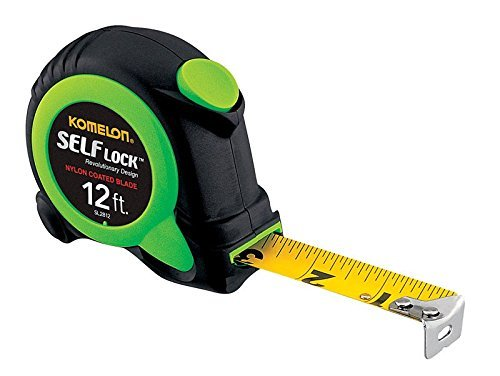 Komelon SL2812 6 Pack 12-foot Tape Measure, Self Lock, Push Button Retrieval