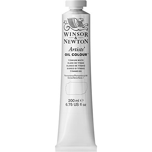 Winsor & Newton Artists' Oil Colour Paint, 200ml Tube, Titanium White
