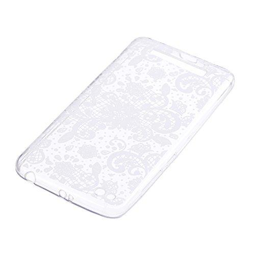 Bleue Coffeetreehouse Soft Xiaomi Mince Case Dentelle Blanche Pour Estampé Tpu Coloré Coque fleur 4a Protecteur Transparent De Fleur Redmi Motif 4a TYrTwqE