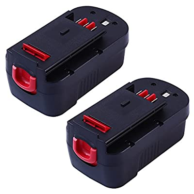 18V 3.0AH for Black and Decker Replacement Battery for HPB18 Cordless Power Tools 2packs by GERIT BATT