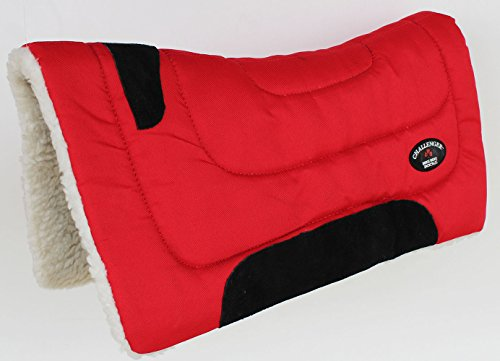 CHALLENGER Horse Saddle PAD Western Pony Riding Show Trail Cordura Top Fur Bottom 39143RDP