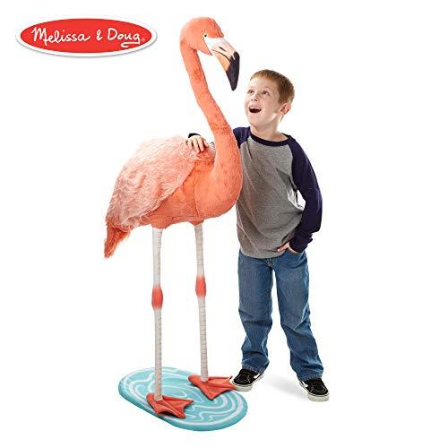 Flamingo Animal - Melissa & Doug Lifelike Plush Flamingo Stuffed Animal (4.5 Feet Tall)