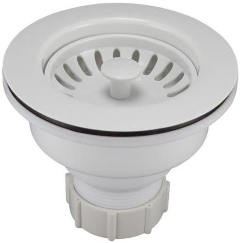 Keeney K1442WH Deep Cup Sink Strainer with Fixed Post Basket, White by Keeney Manufacturing