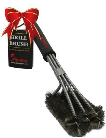 Grillin Chill Gear 18 BBQ Grill Brush Rust Proof Stainless Steel