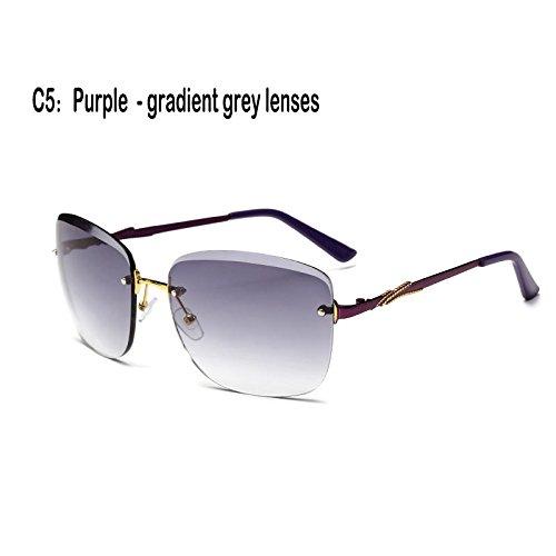 Gafas Lentes cristal Gafas Sunglasses sin sol Fuzzy de 927C3 reborde UV400 mujer de 927C5 TL zvd8xwz