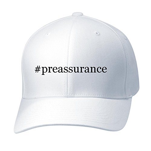 BH Cool Designs #preassurance - Baseball Hat Cap Adult, White, Large/X-Large (Preassure Oven)