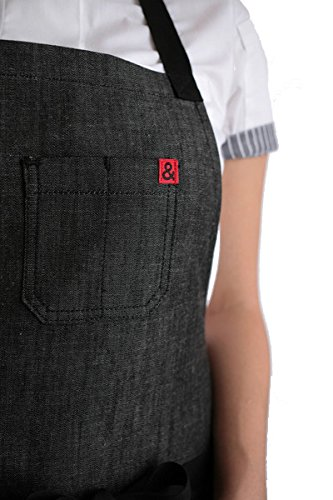 Hedley & Bennett American Made Apron: Abalone Black Chambray by Hedley & Bennett