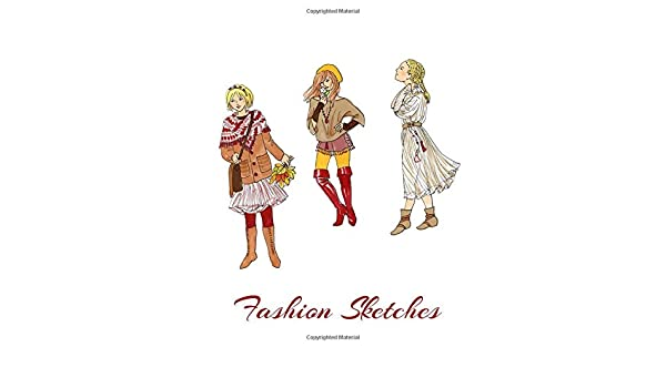 Amazon Com Fashion Sketches Fashion Design Sketches Tredning Clothes Drawings Wardrobe Design Costume Cosplay Design 9781709577413 Stylish Fashion Sketches Books