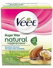 Veet Natural Inspirations Sugar Wax Legs, Face and Body Sensitive Formula, 250 mL