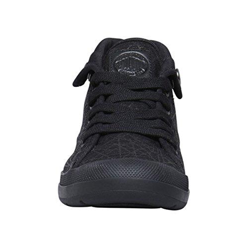 Palladium Aventure F, Zapatillas Altas para Mujer, Negro Negro (Black/black/spider Print)