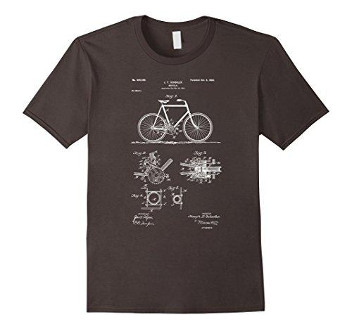 Mens Vintage Patent Print 1900 Bicycle Cycling T-Shirt Large (Bike Print)