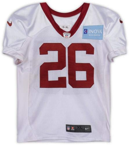 pretty nice 85996 e3259 Adrian Peterson Washington Redskins Practice-Used White #26 ...