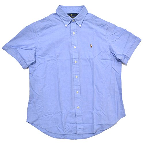 Ralph Lauren Men Chambray Oxford Short Sleeve SHIRT XXL Light Blue