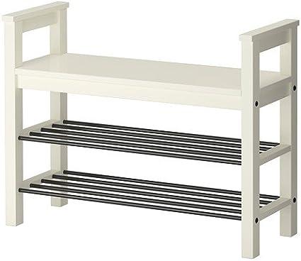 Ikea HEMNES - Banco con almacenaje del Zapato, Blanco - 85x32 ...