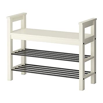 Ikea Hemnes Banc Avec Rangement Chaussures Blanc 85 X 32 Cm