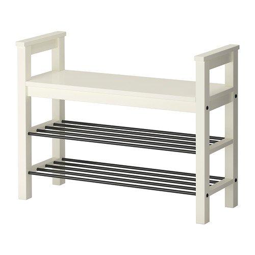 IKEA HEMNES - banco con organizador de zapatos, blanco - 85 ...