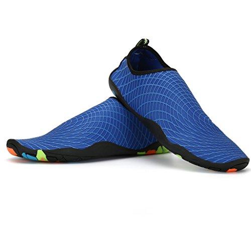 Puro Spiaggia Uomo Blue Surf Yoga Asciugatura Estate Unisex Antiscivolo Water Deep Nuotare Scarpe da Aqua SAGUARO® Shoes Traspirante Donna Rapida HqzUpPU