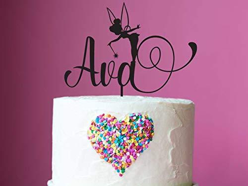 Decoración personalizada para tarta de cumpleaños de hada ...