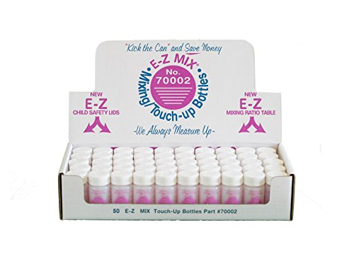 E-Z Mix 70002 2 oz. Touch-Up Bottle, 50 Pack
