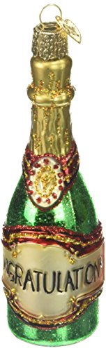 Old World Christmas Ornaments: Champagne Bottle Glass Blown Ornaments for Christmas Tree (Bottle Ornament Champagne)