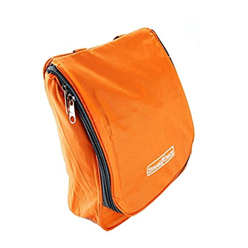 PACKNBUY Travel Toiletry Cosmetic Hanging Pouch Bag Orange