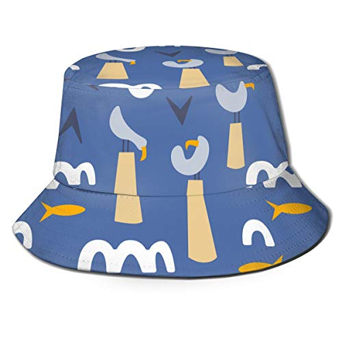 Simple Fish Scales Squama Mens Trends Bucket Hat