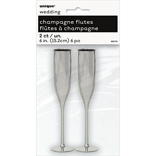 Plastic Silver Champagne Wedding Favors