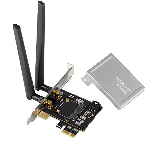 Half Size Mini PCI-e Wireless Card To PCI Express X1 Converter Desktop Computer WiFi Bluetooth Network Adapter by Orange Juice Technology Mini Pci Wireless Board