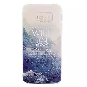 WQQ Teléfono Móvil Samsung - Cobertor Posterior - Gráfico/Dibujos Animados/Diseño Especial - para Samsung Samsung Galaxy S6 ( Multi-color ,