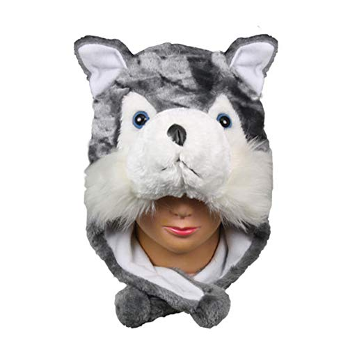 Kids Hat Animal Scarf Cap Winter Husky Cute Warm Beanie A109 for $<!--$21.84-->