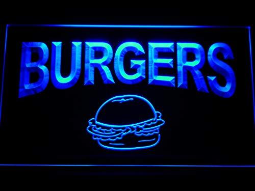 ADVPRO Burgers Cafe LED Sign Neon Light Sign Display m082-b(c)