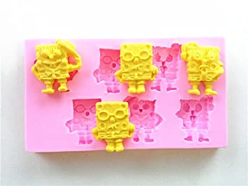 Wocuz W0481 Spongebob Schwammkopf Candy Making Silikon Form Kuchen