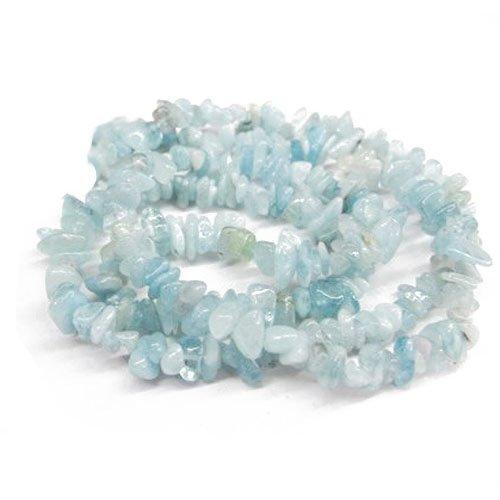 Long Strand 240+ Pale Blue Aquamarine 5-8mm Chip Handcut Beads GS3089 (Charming Beads)