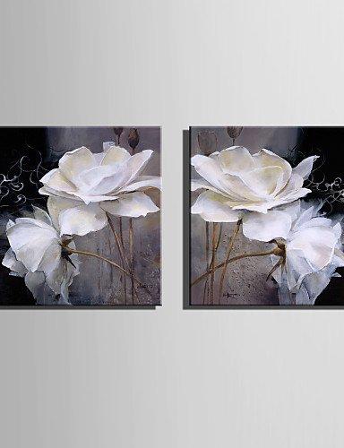 ofladyh Oil® Mini Format e-pittura Home Modern Pure White Flowers ...