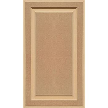 Unfinished MDF Square Flat Panel Cabinet Door by Kendor 18H x 12W