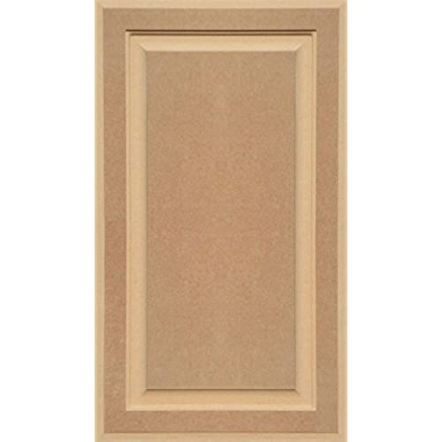 Unfinished MDF Cabinet Door, Square With Raised Panel By Kendor, 28H X 16W