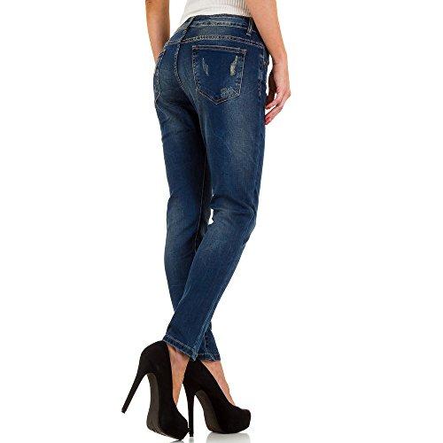 Used Look Low Skinny Jeans Für Damen bei Ital-Design Blau aWZQ7m