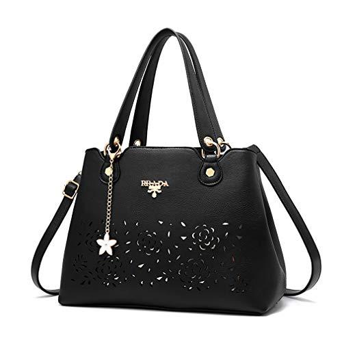 dames de bandoulière cuir à 23CM 16 sac minimaliste à Nouveau en Noir bandoulière 33 sac main sac à élégant 7WzSRq81