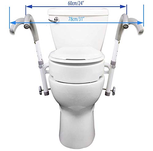 MOBB New Ultimate Safety Frame Strongest Toilet Safety and Your Choice of Toilet Seat Rise (Ultimate Toilet Frame Only) by MOBB Healthcare, LLC