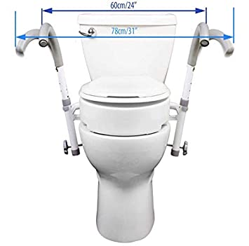 Marvelous Mobb New Ultimate Safety Frame Strongest Toilet Safety And Your Choice Of Toilet Seat Rise Andrewgaddart Wooden Chair Designs For Living Room Andrewgaddartcom