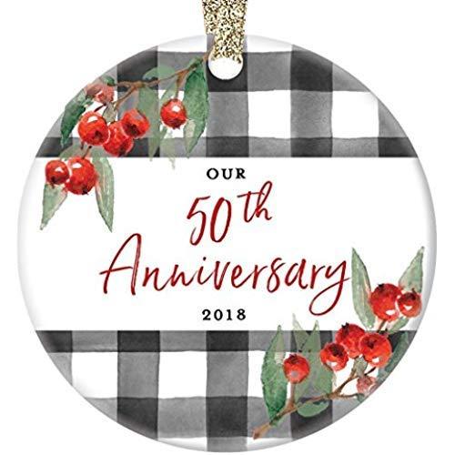Restaurre2a - Adorno de 50 Aniversario de Navidad 2018, Pareja Casada, celebración 50 años Cincuenta y cincuentenario, Boda...