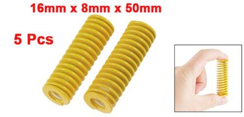 sourcingmap/® 16 mm X 8 mm X 50 mm De Secci/ón Tubular Del Molde Del Molde Dado Muelle Naranja 5 Piezas
