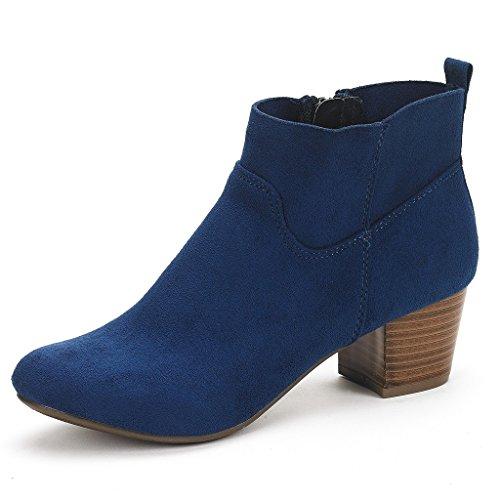 - DREAM PAIRS Women's Keeny Navy Block Heel Side Zipper Ankle Booties - 6.5 M US
