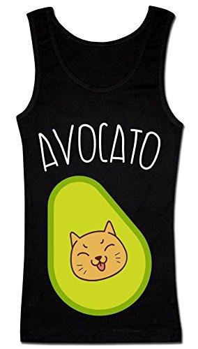 Avocato Avocado Kitten T-shirt senza maniche da donna