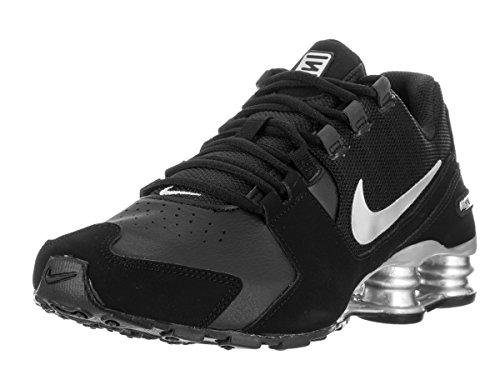 Nike Shox Avenue Black Silver Youths Trainers Black Silver