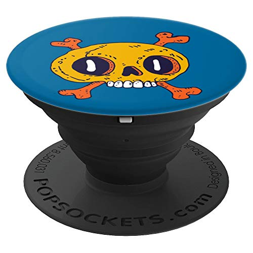 Skull Drawing Halloween Design - PopSockets Grip and Stand for Phones and -