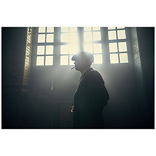Cillian Murphy 8 Inch x 10 Inch Photograph Peaky Blinders (TV Series 2013 -) Silhouette Cigarette in Mouth Bright Light Coming Through Windows kn