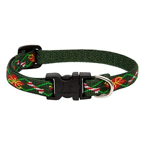 "LupinePet Originals 1/2"" Santa's Treats Christmas Adjustable Collar for Small Dogs 50%OFF"