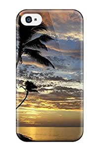 New KRnSCcg646MkykR Amazing Beach Skin Case Cover Shatterproof Case For Iphone 4/4s